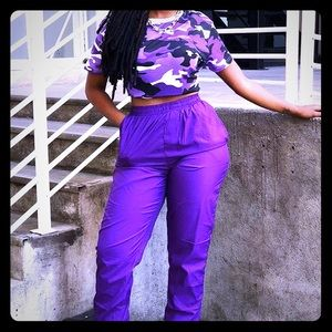 Pants - Purple camo outfit